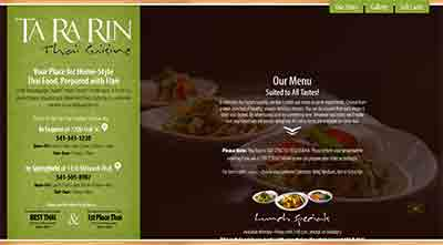 Image of Ta Ra Rin Thai Cuisine home page